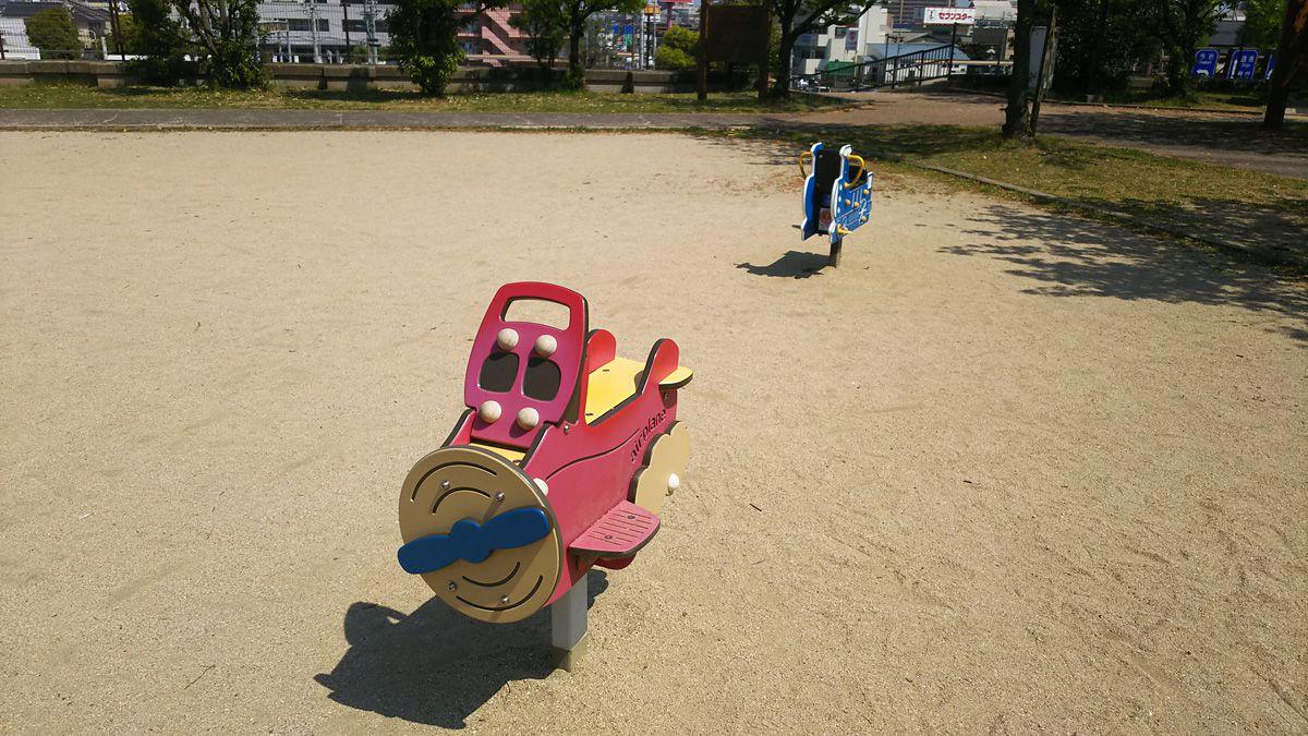南江戸公園 スプリング遊具