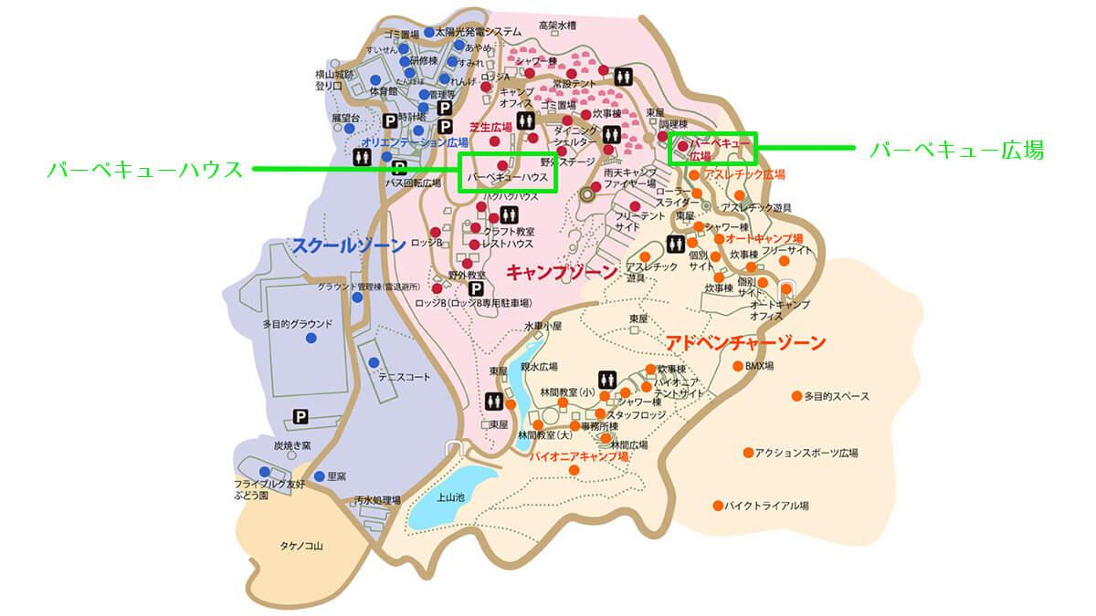 松山野外活動センター(レインボーハイランド) マップ