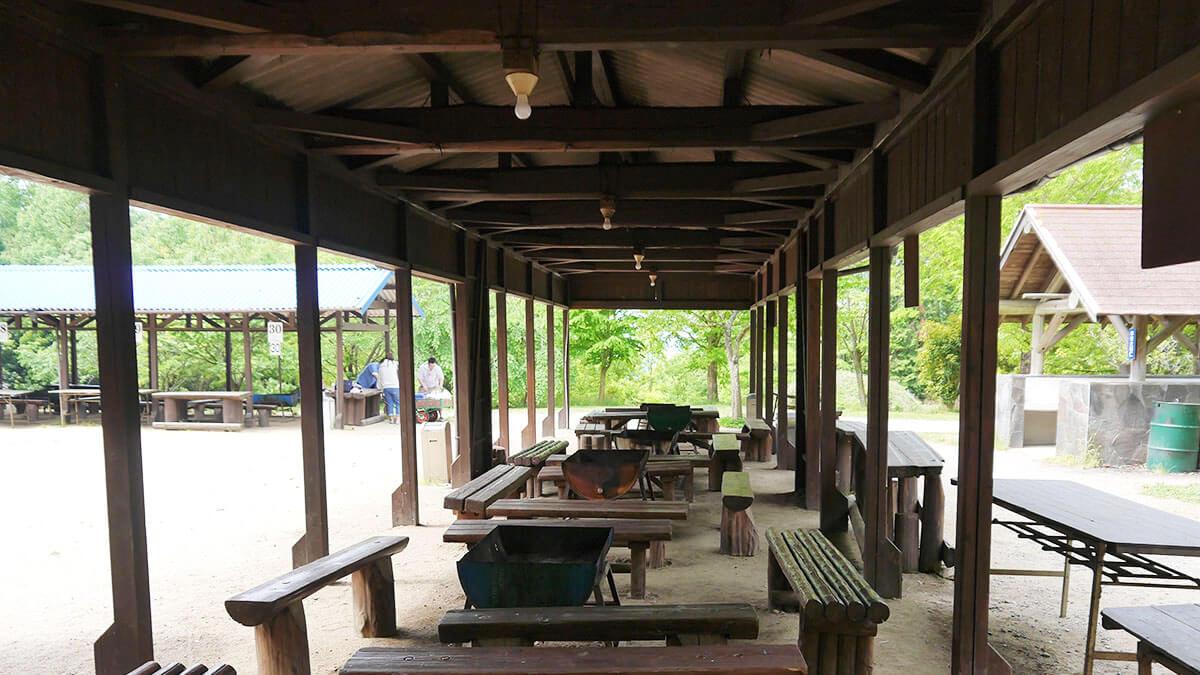 松山野外活動センター(レインボーハイランド) バーベキュースペース