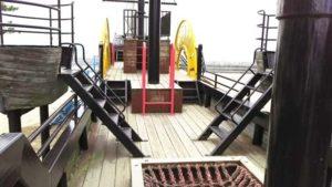 長浜環境緑地 海賊船内部
